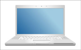 Laptop. Realistic grey laptop isolated on background. Vector illustration