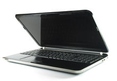 Laptop. Black laptop on white background stock image