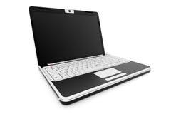 Laptop 3D übertragen Lizenzfreies Stockbild