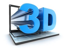 Laptop 3d Stock Photos