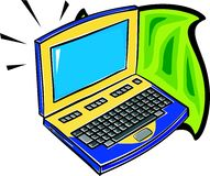 Laptop. Illustration Royalty Free Stock Image