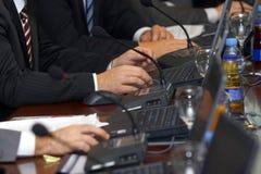 Laptop 5 van de vergadering royalty-vrije stock afbeeldingen