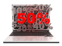 Laptop 50% Stock Photography