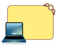 Laptop. A laptop  on background frame stock illustration