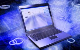 laptop Στοκ εικόνα με δικαίωμα ελεύθερης χρήσης