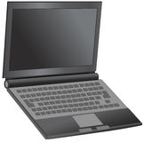 Laptop. Vector illustration of a laptop computer Royalty Free Stock Photo