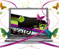 Laptop. New laptop with modern and simple illustration Royalty Free Stock Images