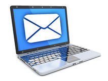 Laptop and abstract e-mail Royalty Free Stock Photography