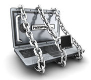 Laptop and access Stock Image
