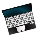 Laptop against white Royalty Free Stock Photos