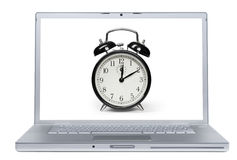 Laptop Alarm Stock Image