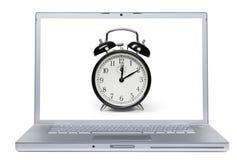 Laptop Alarm Stock Afbeelding