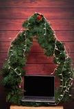 Laptop als Geschenk auf Weihnachten Stockfotos