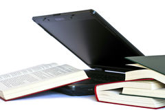 Laptop And Books Royalty Free Stock Photos