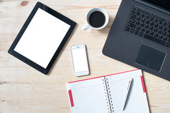 Free Laptop And Office Stuff, Workplace, Top View Stock Photos - 71570523