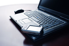 Laptop And Pocket PC Royalty Free Stock Photo