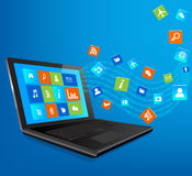 Laptop with Application Royalty Free Stock Photography