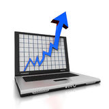 Laptop Arrow Stock Photos