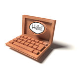 Laptop as a cardboard model Royalty Free Stock Photography