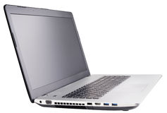 Laptop auf Weiß Lizenzfreie Stockbilder