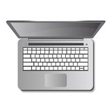 Laptop auf weißem Hintergrund Auch im corel abgehobenen Betrag Lizenzfreie Stockfotografie