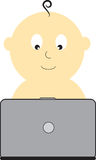 Laptop Baby Stock Photography
