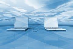 Laptop Background Stock Photography