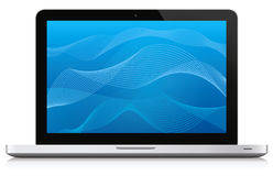 Laptop with Background Royalty Free Stock Images