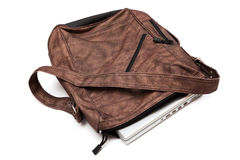 Laptop in a bag Stock Photography