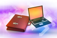 Laptop with bag Stock Image