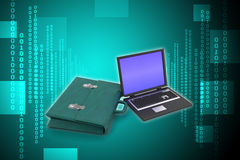 Laptop with bag Royalty Free Stock Photo