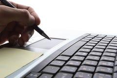 Laptop, bedrijfstechnologie Royalty-vrije Stock Afbeeldingen