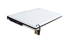 Laptop is beschermd Royalty-vrije Stock Foto