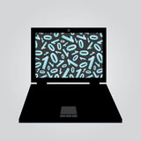 Laptop binary code eps10. Laptop and binary code eps10 Royalty Free Illustration
