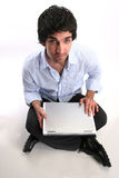 laptop biznesmena zdjęcia royalty free