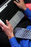 laptop biznesmena obraz royalty free