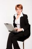 laptop biznesowa kobieta zdjęcie stock