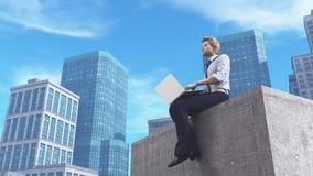 laptop biznesowej, Fotografia Stock