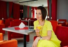 laptop biznesowej kobieta Zdjęcia Royalty Free