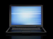 Laptop on black background Royalty Free Stock Images