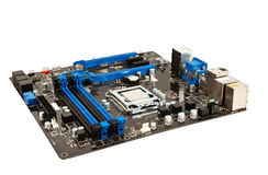 Laptop black and blue mother board Stock Photography