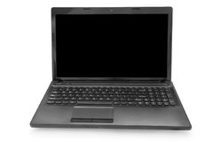 Laptop with black monitor Royalty Free Stock Photography