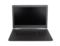 Laptop with black screen  Royalty Free Stock Photos