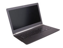 Laptop with black screen  Royalty Free Stock Images