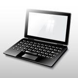 Laptop black. Laptop black on white background Royalty Free Stock Photos