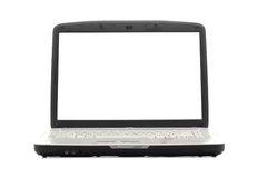 Laptop. Blank display. Royalty Free Stock Photography
