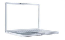 Laptop with blank monitor Royalty Free Stock Images