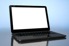 Laptop with Blank Screen Royalty Free Stock Images
