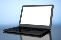 Laptop with Blank Screen Royalty Free Stock Image