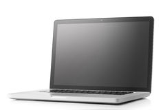Laptop with blank screen isolated Stock Photography